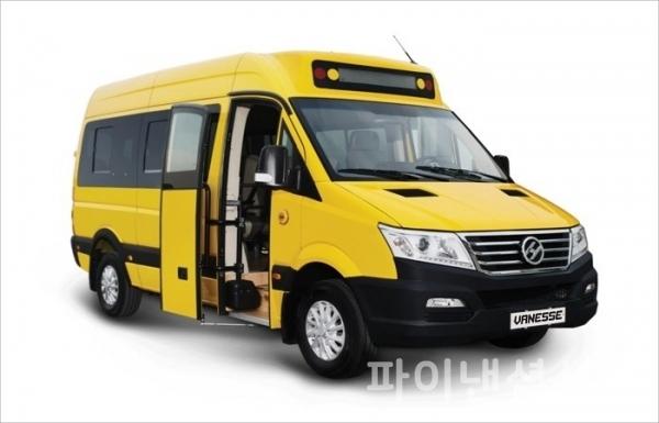한신자동차의 소형전기버스 '바네스'가 김포시 표준형 어린이 통학용 전기버스 시범사업에 공급이 확정됐다. (사진=한신자동차)